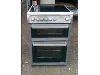 6 MONTHS WARRANTY Hotpoint EW74 60cm, double oven electric cooker FREE DELIVERY