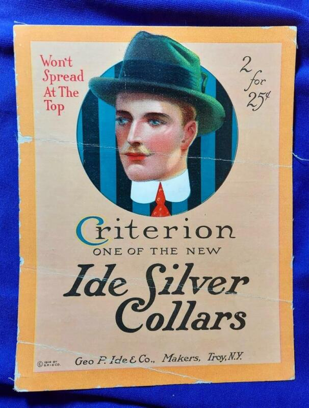 Criterion Ida Silver Collars advertising  Street leaflet from the year 1914