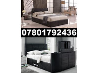 1/ BRAND NEW TV BED WITH GAS LIFT STORAGE Fast DELIVERY 091
