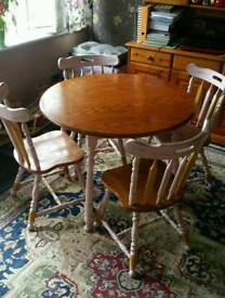 Dining table+4 chairs. £80