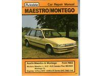 Maestro & Montego - Autodata Car Repair Manual from 1983