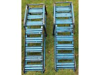 Pair of Heavy Duty Metal Car Ramps