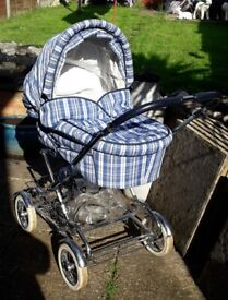 Silver Cross Country Classic Pram with pushchair unit