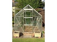 8 ft X 6 ft Aluminium & Glass Greenhouse