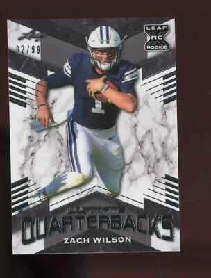 2021 Leaf Ultimate Quarterbacks XRC Silver Zach Wilson /99 RC Rookie