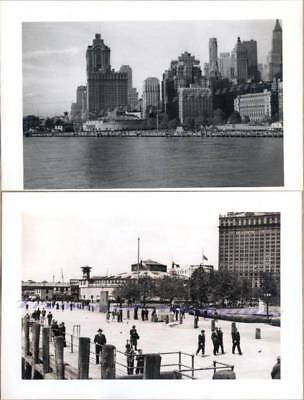 1941 Manhattan New York Castle Garden Battery Park Aquarium Waterfront Photos