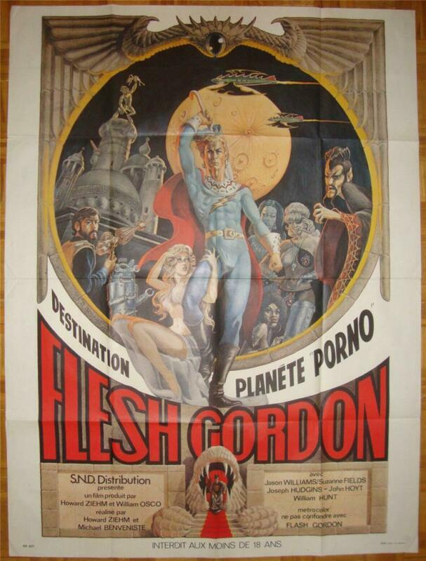 FLESH GORDON VINTAGE ORIG SEXPLOITATION EROTIC GAY FLASH PHALLIC FILM POSTER