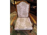 NEW SALE PRICE - LOVELY ANTIQUE NEWLY REUPHOLSTERED ARMCHAIR - WE CAN DELIVER