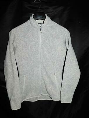 Eddie Bauer M Gray Radiator Fleece Jacket Better Sweater Knit Full Zip Womens