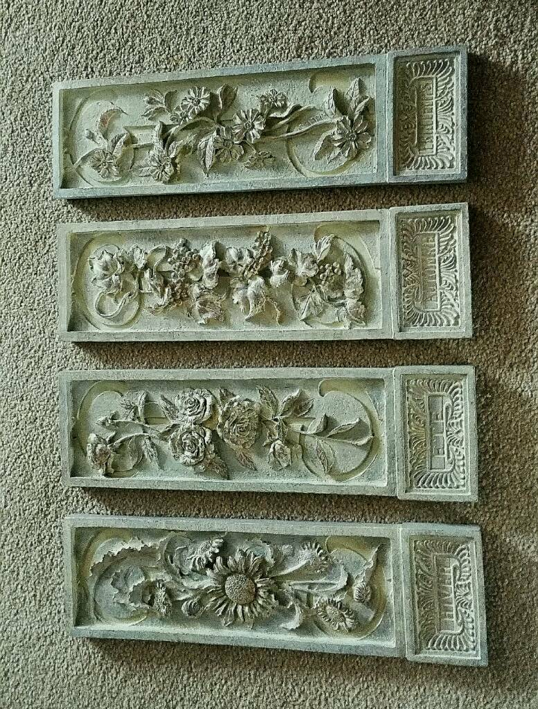 Set of Pastimes Resin Four Seasons Plaques.
