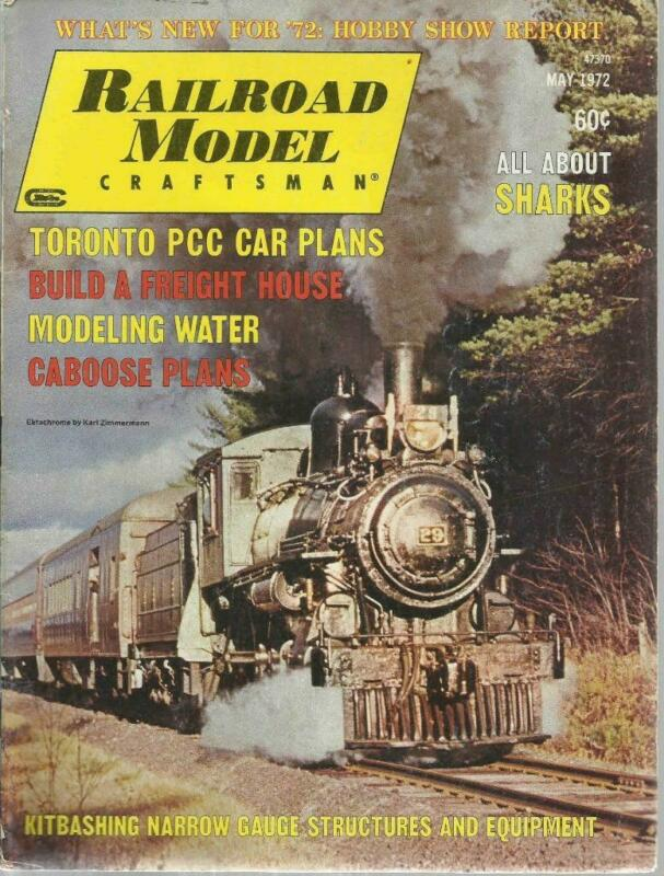 Railroad Model Craftsman May 1972 All About Shark Engines Nostalgic Warehouse