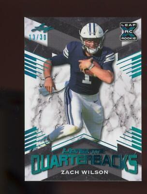 2021 Leaf Ultimate Quarterbacks XRC Light Blue Zach Wilson /30 RC Rookie