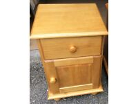 Solid Pine Bedside Cabinet, New / Boxed