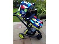 Cosatto giggle pushchair carrycot and carset