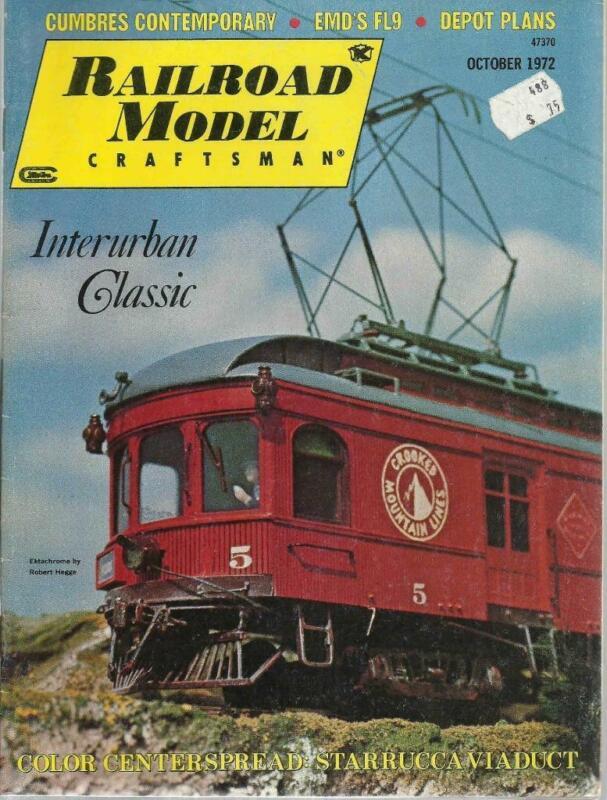 Railroad Model Craftsman October 1972 CN Weston ON Depot Plans Starrucca Viaduct