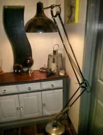 Extra large chrome angle poise lamp