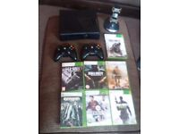 Xbox 360 500gb 7games 2controllers and charging station
