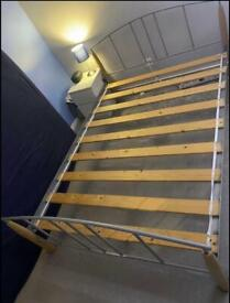 Metal double bed with or without mattress*can deliver