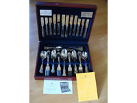 66 piece, Viners stainless steel cutlery canteen. Viscount design.