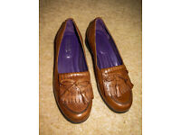 Ladies Hotter leather loafers - tan