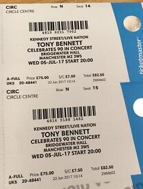 Tony Bennett Concert Tickets (2)