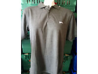 grey slazenger golf shirt
