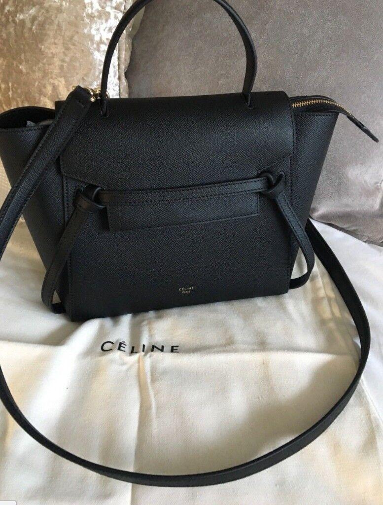 ff2865553703 celine micro belt bag black