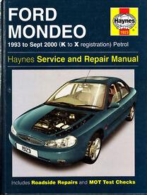HAYNES FORD MONDEO SERVICE & REPAIR MANUAL 1993 to 2000 PETROL