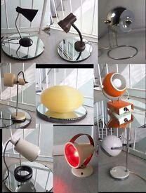 Mid Century Lamp (s) / Retro Vintage Light (s) 1960s 1970s Eames Habitat Era Sputnik Atomic
