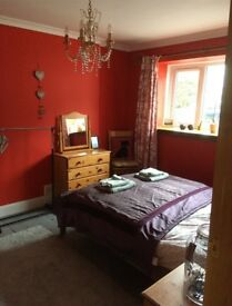Furnished double bedroom in family home