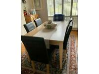 Barker And Stonehouse Oak Dining Table And Chairs - EXCELLENT MINT Condition