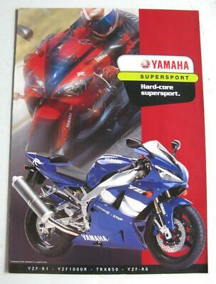 YAMAHA SUPERSPORT Motorcycle Sales Brochure 2000 Australian Market #LIT-SUPER-00