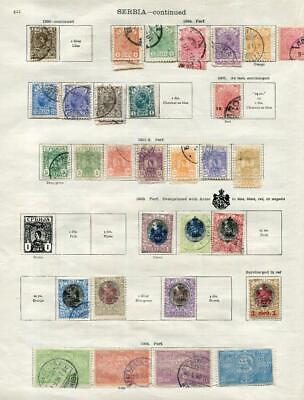 SERBIA: 1866-1904 Examples - Ex-Old Time Collection - 2 Sides Album Page (41610)