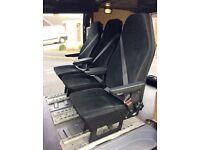 Van seats X3 removable & fully adjustable. Universal MOT compliant - VW Mercedes Ford