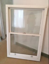 Sash window approx 120cm x 100cm - high quality wooden sash window, offers - must go this week!