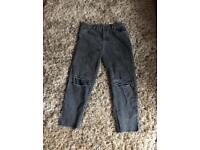 Top shop high waisted ripped mom jeans