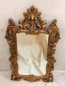 Ornate Antique Louis XIV Style Gold Mirror
