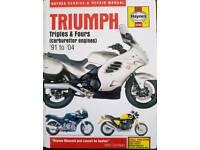 Haynes Manual Triumph Motorbike Triples & Fours 91 to 04 Carburetor Engines