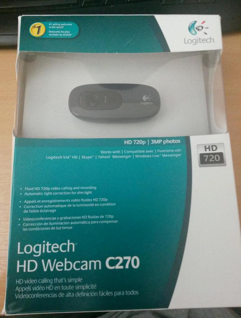 Logitech C270 720p Hd Webcam Perfect For Skype In Quedgeley
