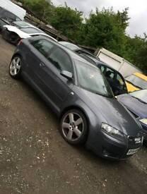 Breaking Audi A3 2.0 TDI sline grey auto dsg