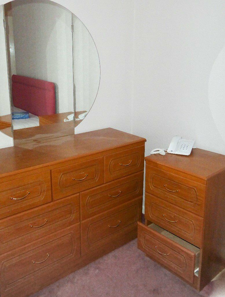 Matching Bedside Cabinet and Dressing Table