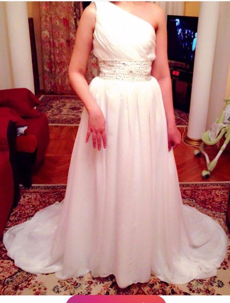 NEW!!! Wedding Dress White Size S-M One Shoulder Corset Size ...