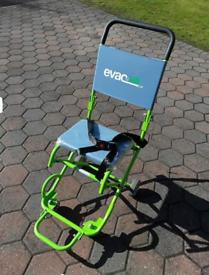 EVACUSAFE 4 wheel transit chair.