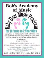 Bob's Music Downtown Pembroke BabyBeat for Infant to 2 year olds