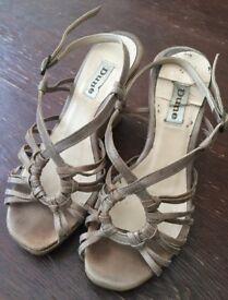 Wedge heel sandals (size 3) - used