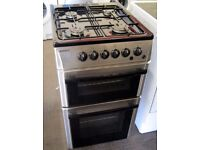 Beko 50cm Silver Gas Cooker with 6 Month Cover