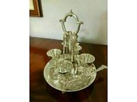 Sensible Offers... Fine Quality Walker & Hall Silver Plated Antique Egg Cup Holder Carousel