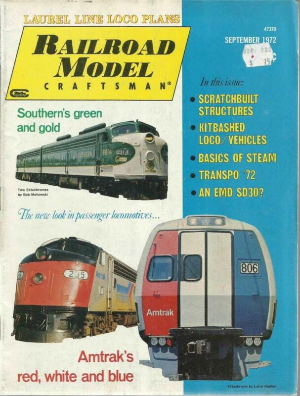 Railroad Model Craftsman September 1972 Yard Shed & Lackawanna 401 Loco Drawings