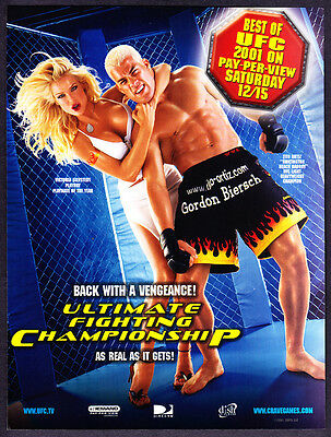 "2001 Victoria Silvstedt Tito Ortiz photo ""As Real As It Gets"" UFC promo print ad"
