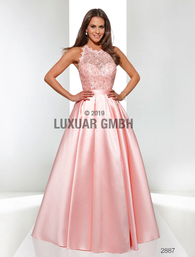 Quality Luxuar Limited Evening Wedding Formal Party Prom Salmon Light Long  Dress UK 16  in Armagh, County Armagh  Gumtree